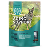 Alenza Aging Support for Dogs packaging with soft chews