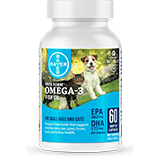 Free form bottle for small dogs cats with snip tip capsules