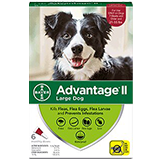 Advantage II for Large Dog packaging