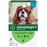 Advantage II for Medium Dog packaging
