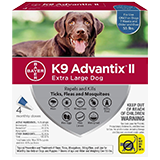 K9 Advantix II for Extra Large Dog packaging