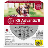 K9 Advantix II for Large Dog packaging