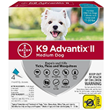 K9 Advantix II for Medium Dog packaging