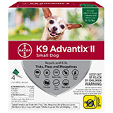 K9 Advantix II for Small Dog packaging
