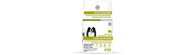 Quad Dewormer Chewable Tablets for Dogs